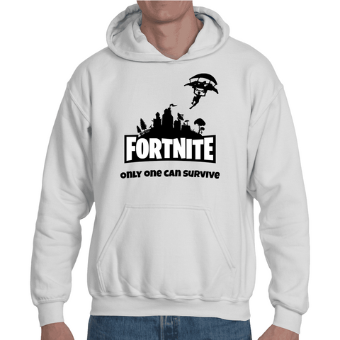Hooded Sweatshirt Fortnite - Only One Can Survive - Sheepbay
