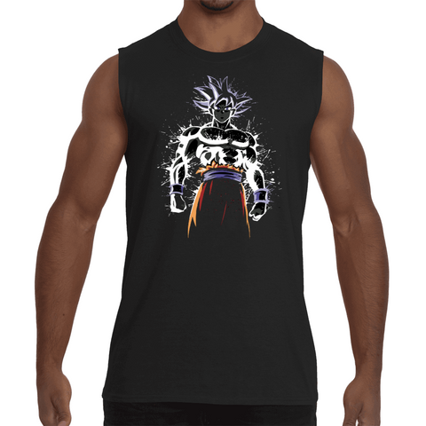 Sleeveless Shirt Dragon Ball Goku Ultra Instinct Artwork - Sheepbay
