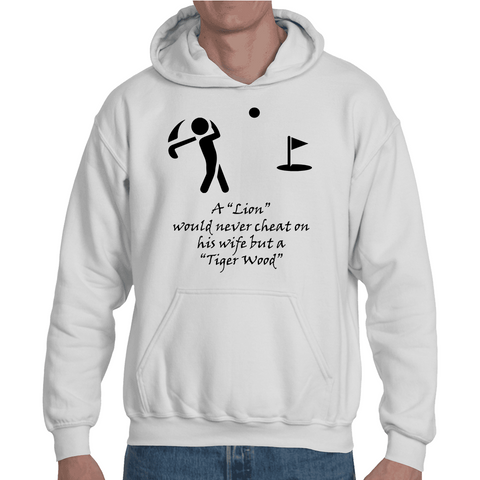 Hooded Sweatshirt Golf - Tiger Woods Joke - Sheepbay