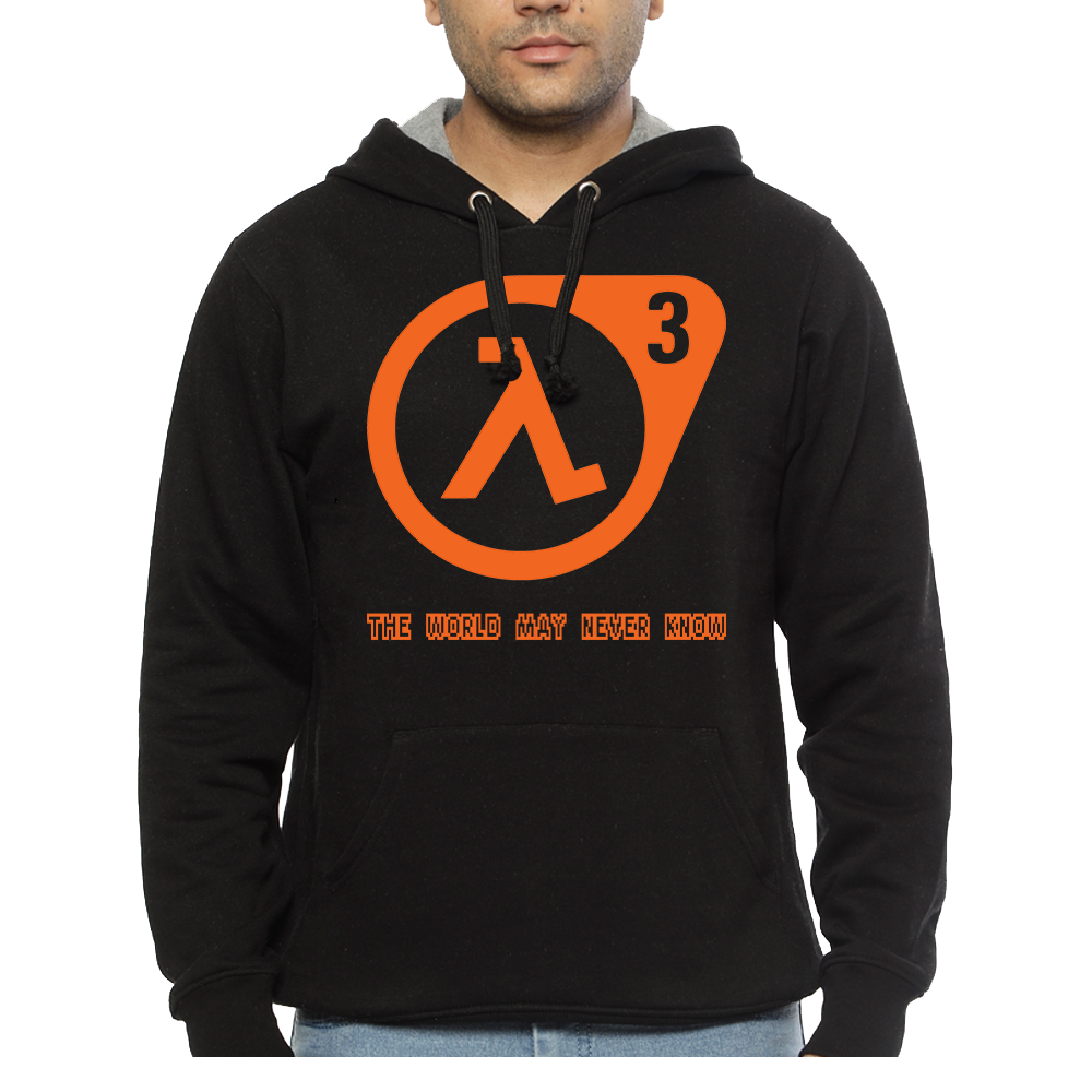 Hooded Sweatshirt Half Life 3 - The World May Never Know - Sheepbay