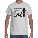 T-shirt International Symbol For Marriage - Sheepbay