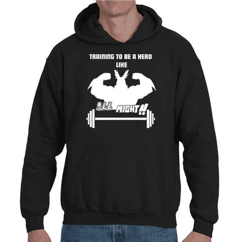 Hooded Sweatshirt My Hero Academia - Training To Be Like All Might - Sheepbay