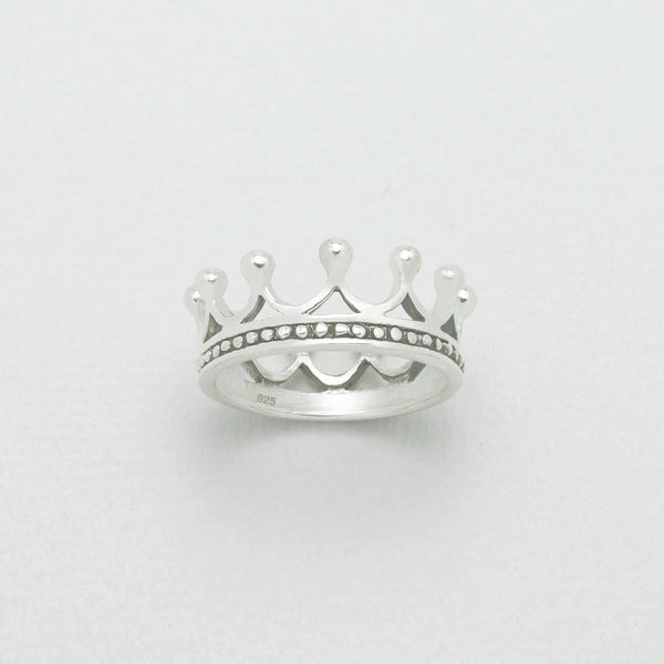 Queen crown ring sterling silver