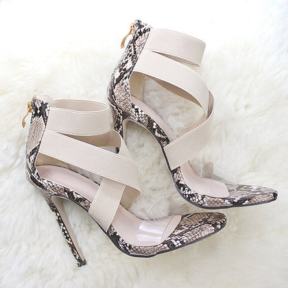 Transparent Thin High Heels Sexy Sandals