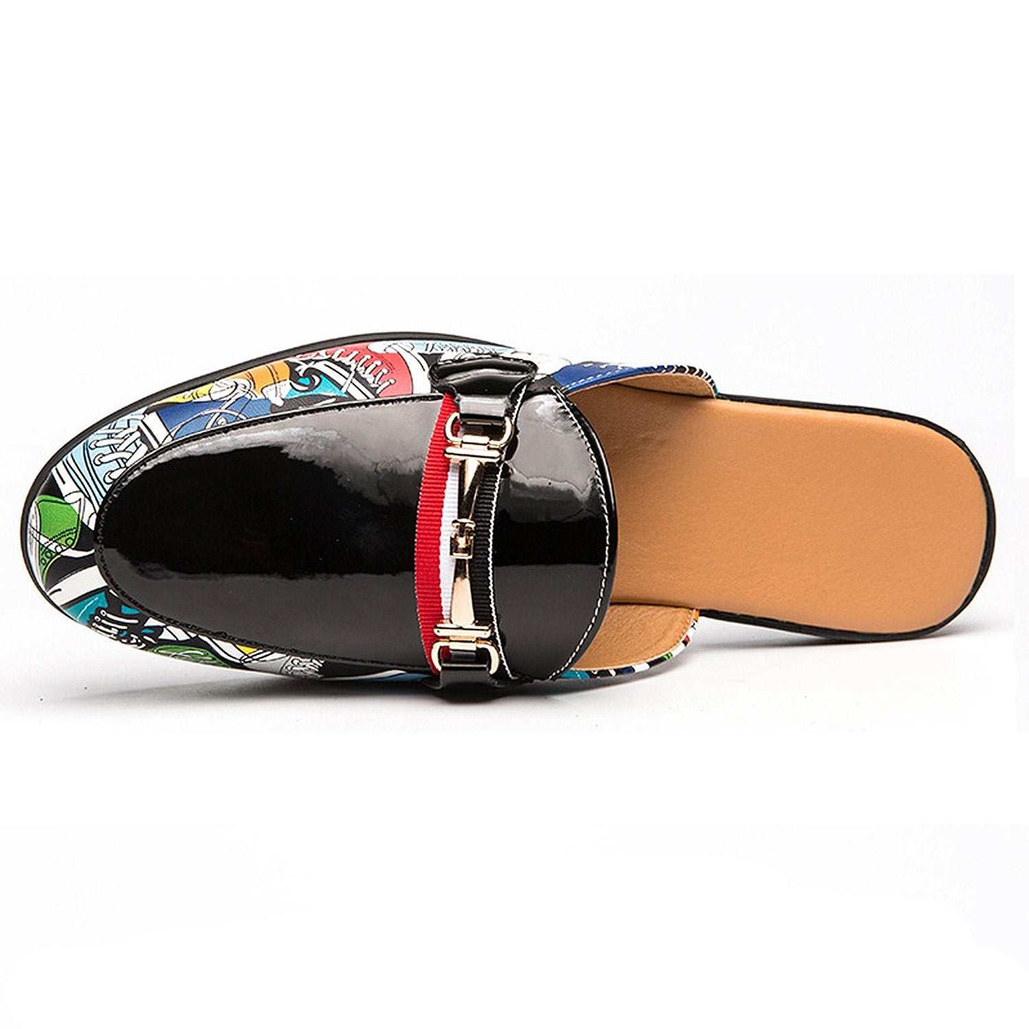 Men's Patent Leather Slippers Mules