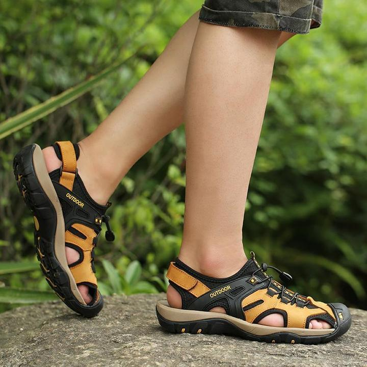 Men High Quality Leather Sandals