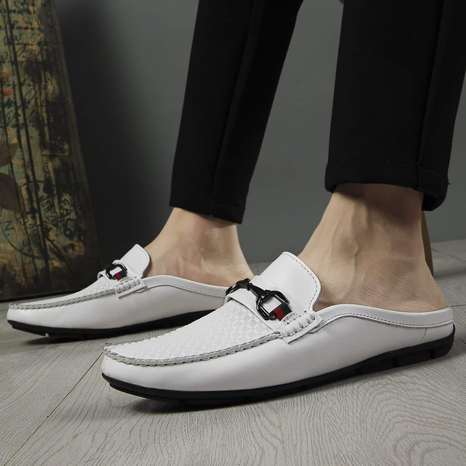 Men's Casual Breathable Leather Backless Mules