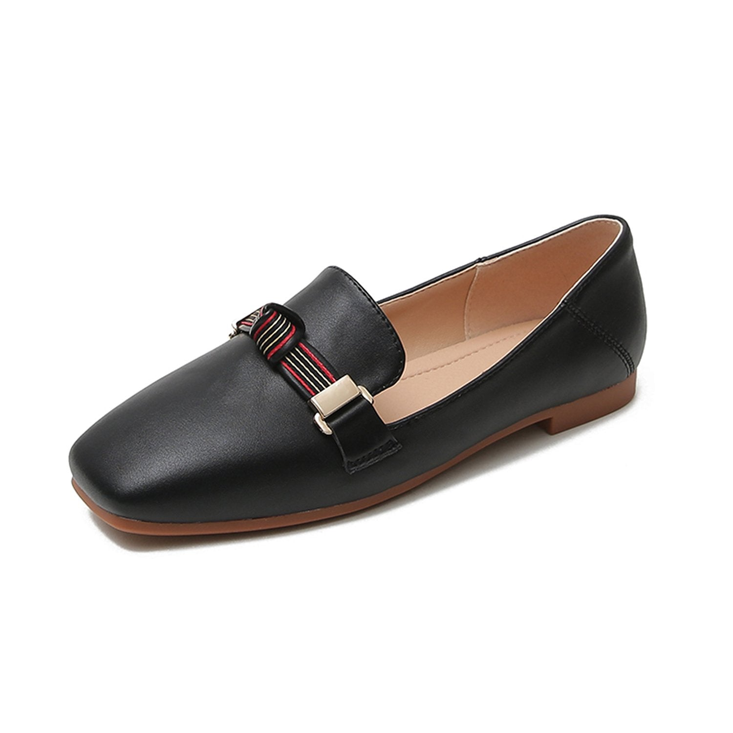 British Style Flat Square Head Soft Sole Loafers