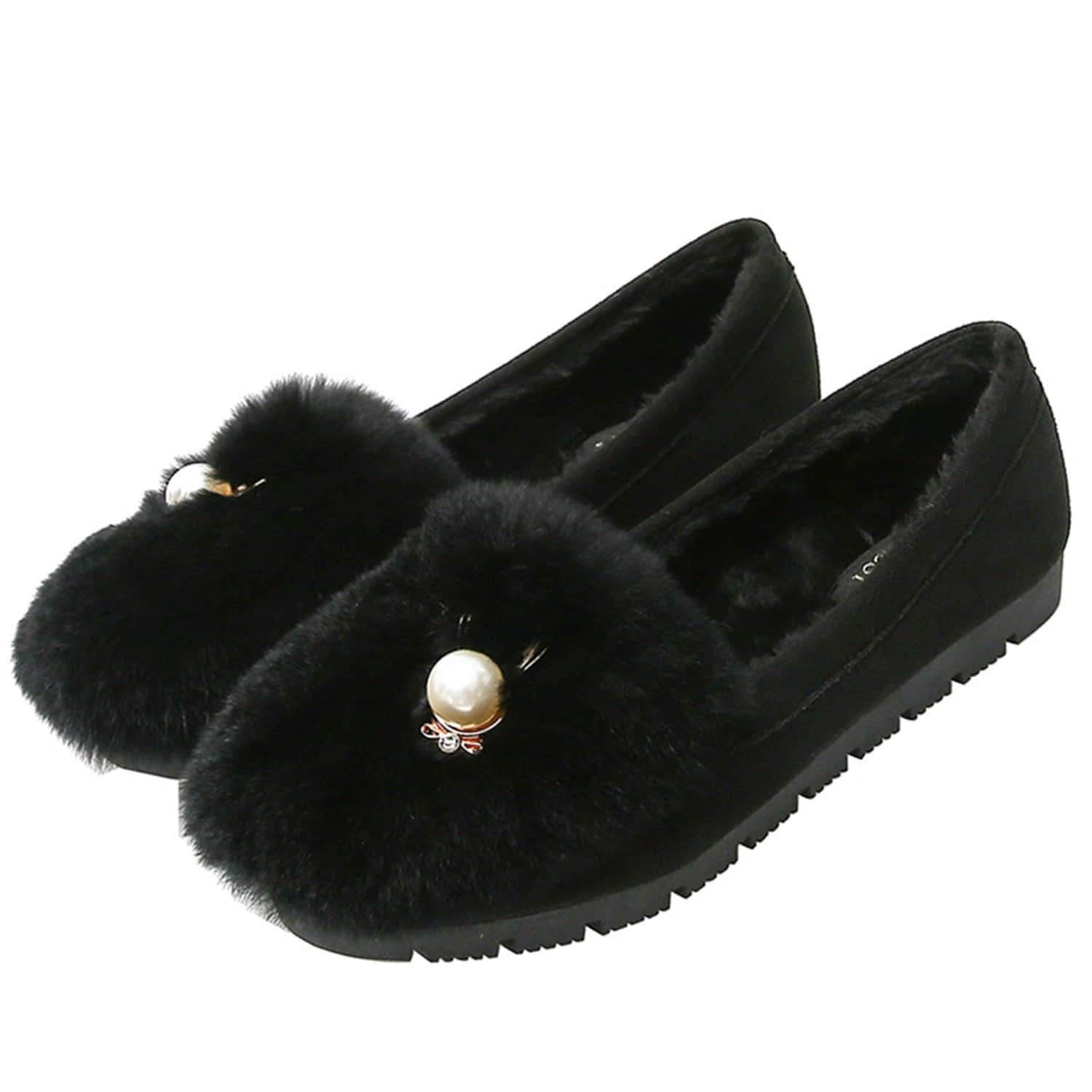 Color matching Velvet Soft-Soled Shoes Loafers