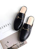 Oxford Slide Slip On Flat Mule Loafer