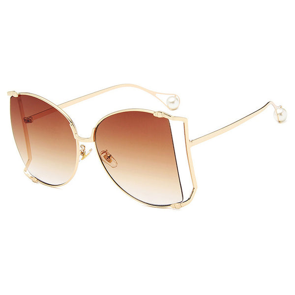 Oversize Thin Frame Sunglasses