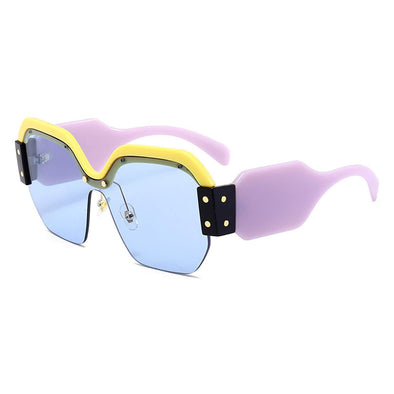 Retro Contrast-color Sunglasses