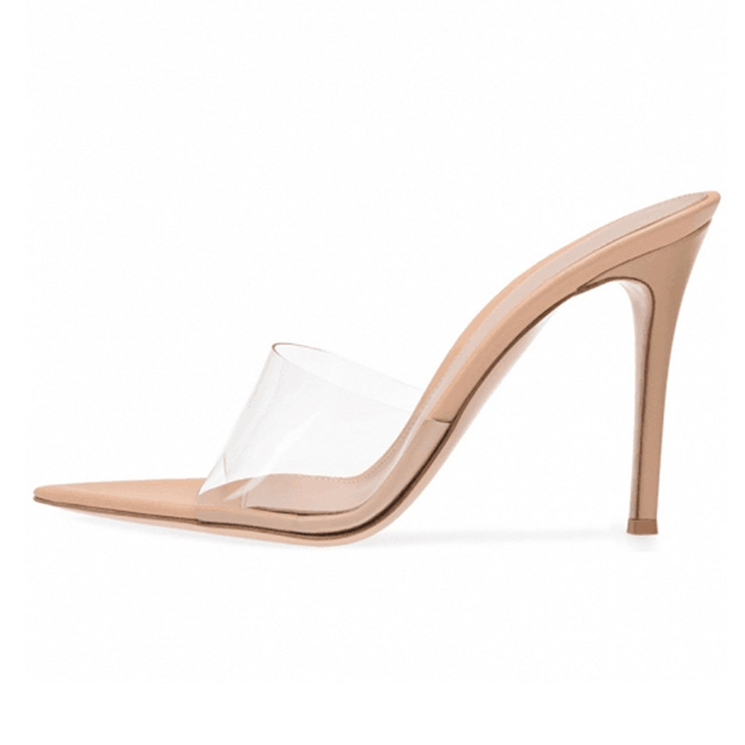 Transparent PVC Pointed Toe Sandals