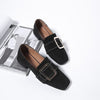 Square Buckle Slip-On Loafers