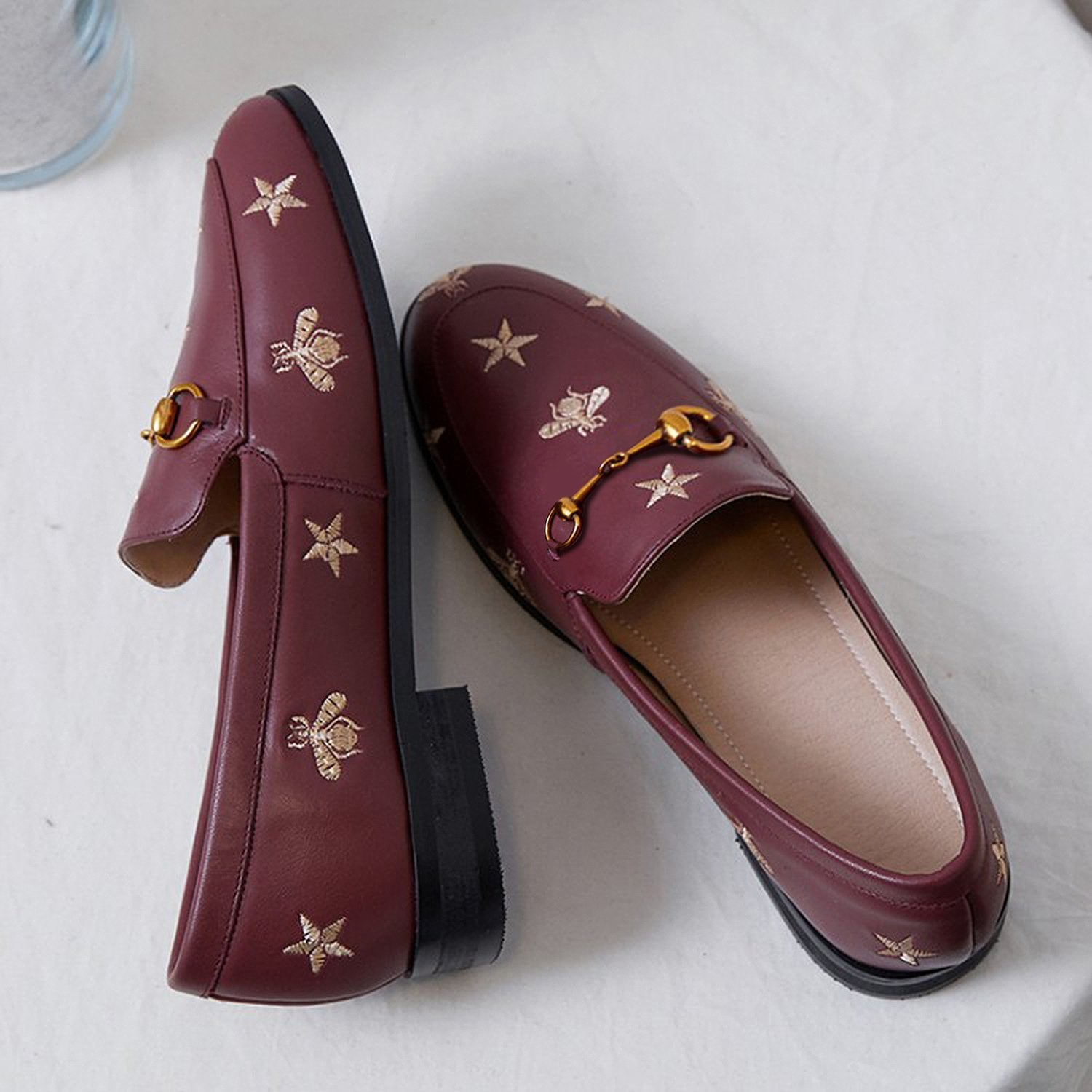 Bee and Star Leather Loafers