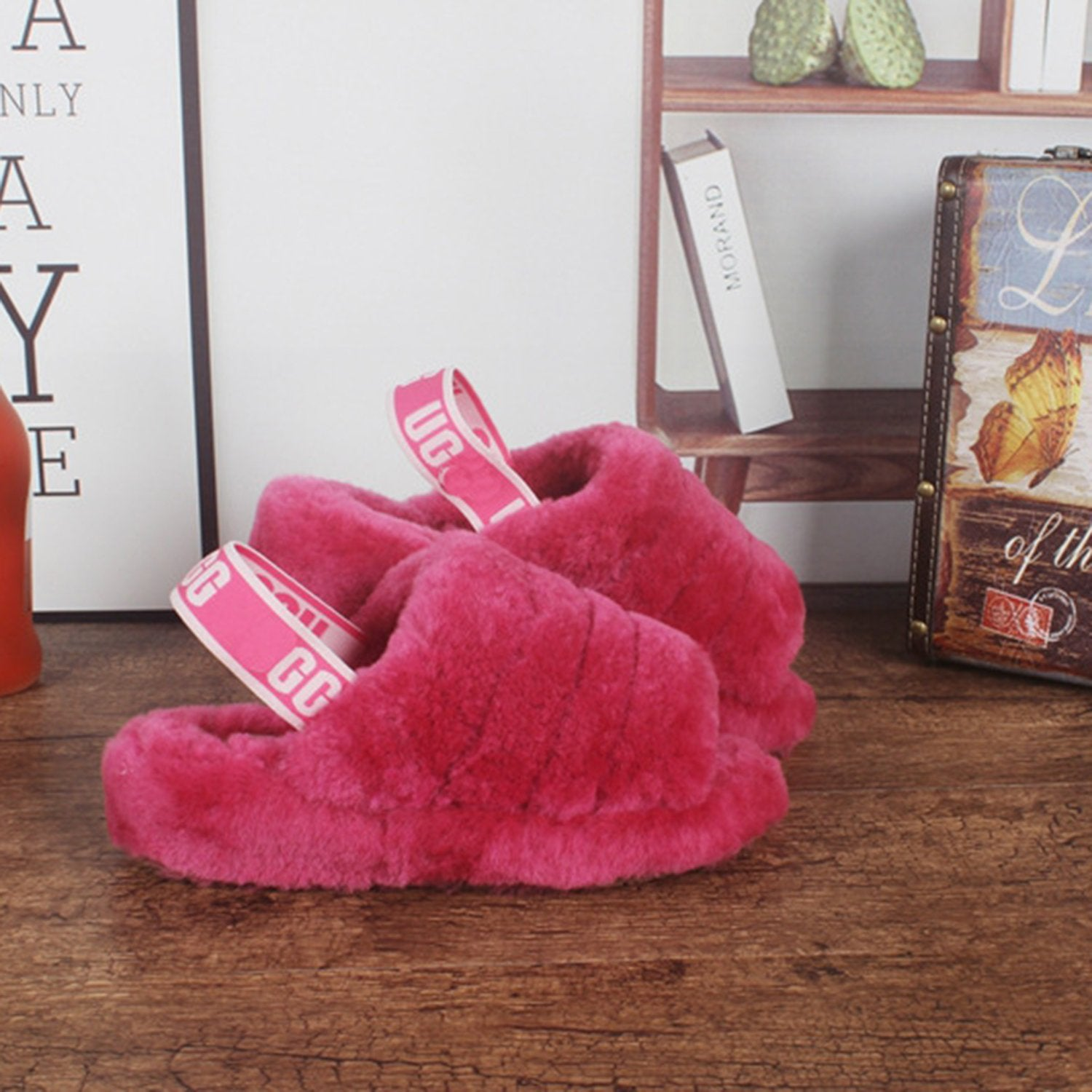 Coconut Warm Furry Slippers Snow Boots