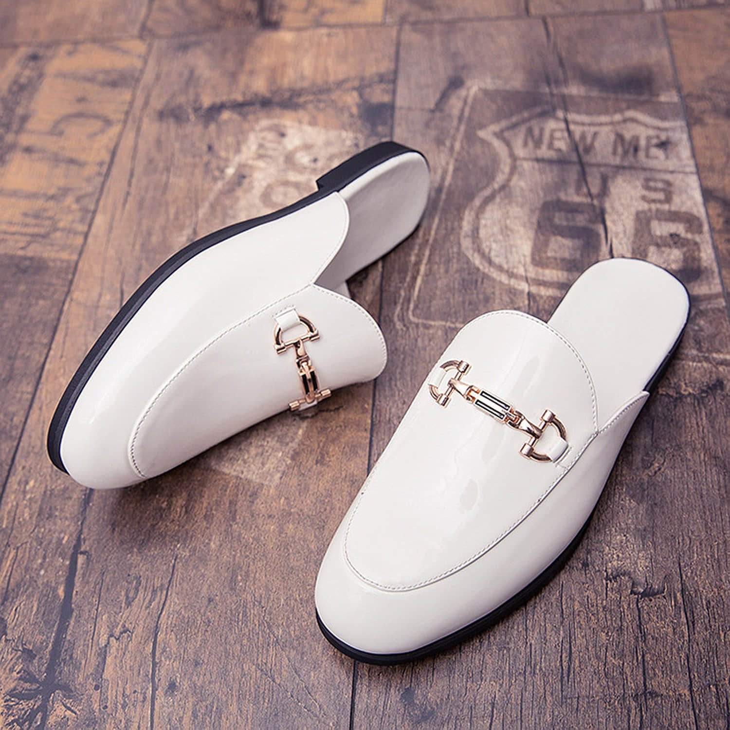 Men Classic Buckle Slippers Mules