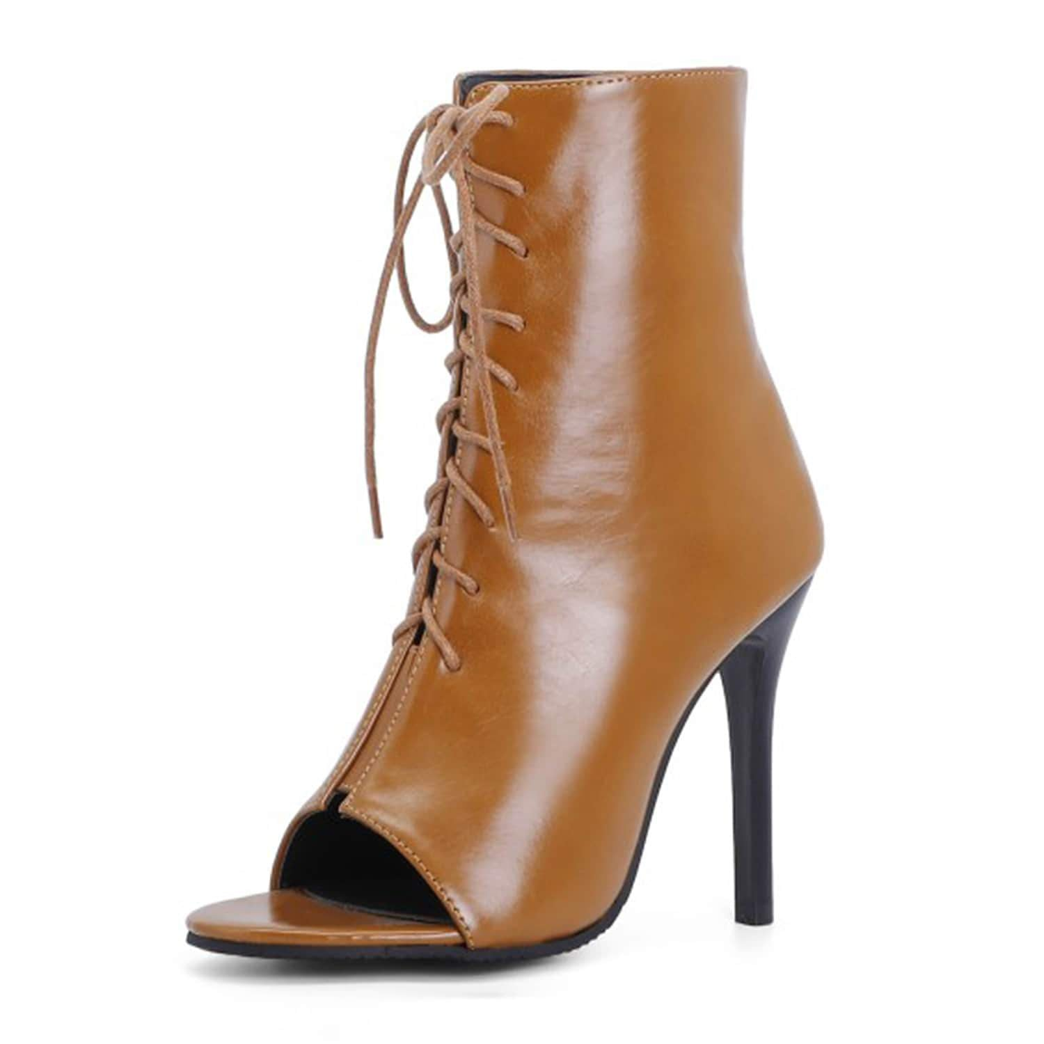 High Heel Open Toe Boots
