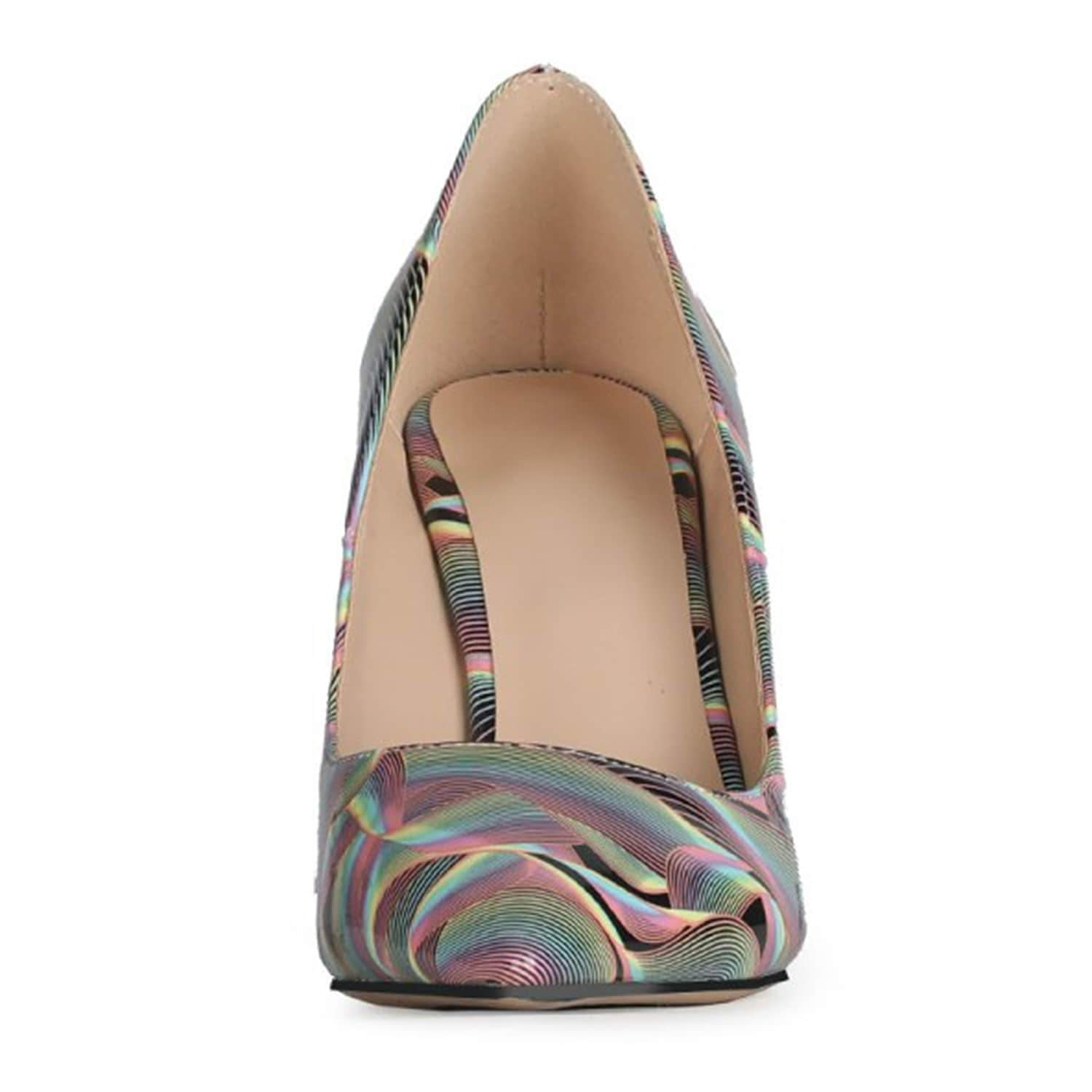 Patent Leather Ripple Wedge Women Shoe