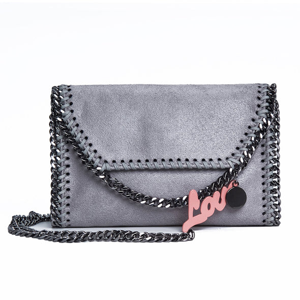 Square Fashion Simple Star Chain Dark Series Bag