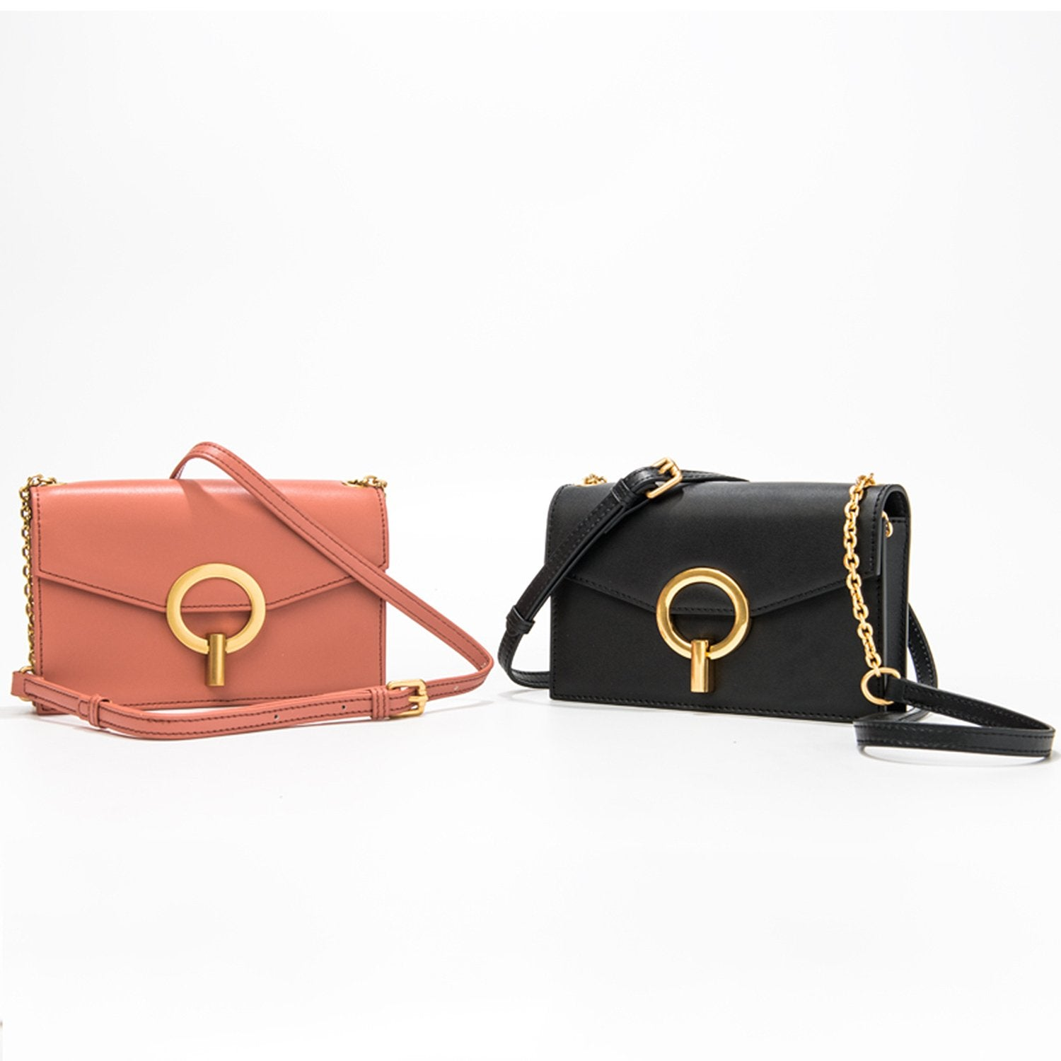 Leather Cowhide Fashion Chain Small Square Bag