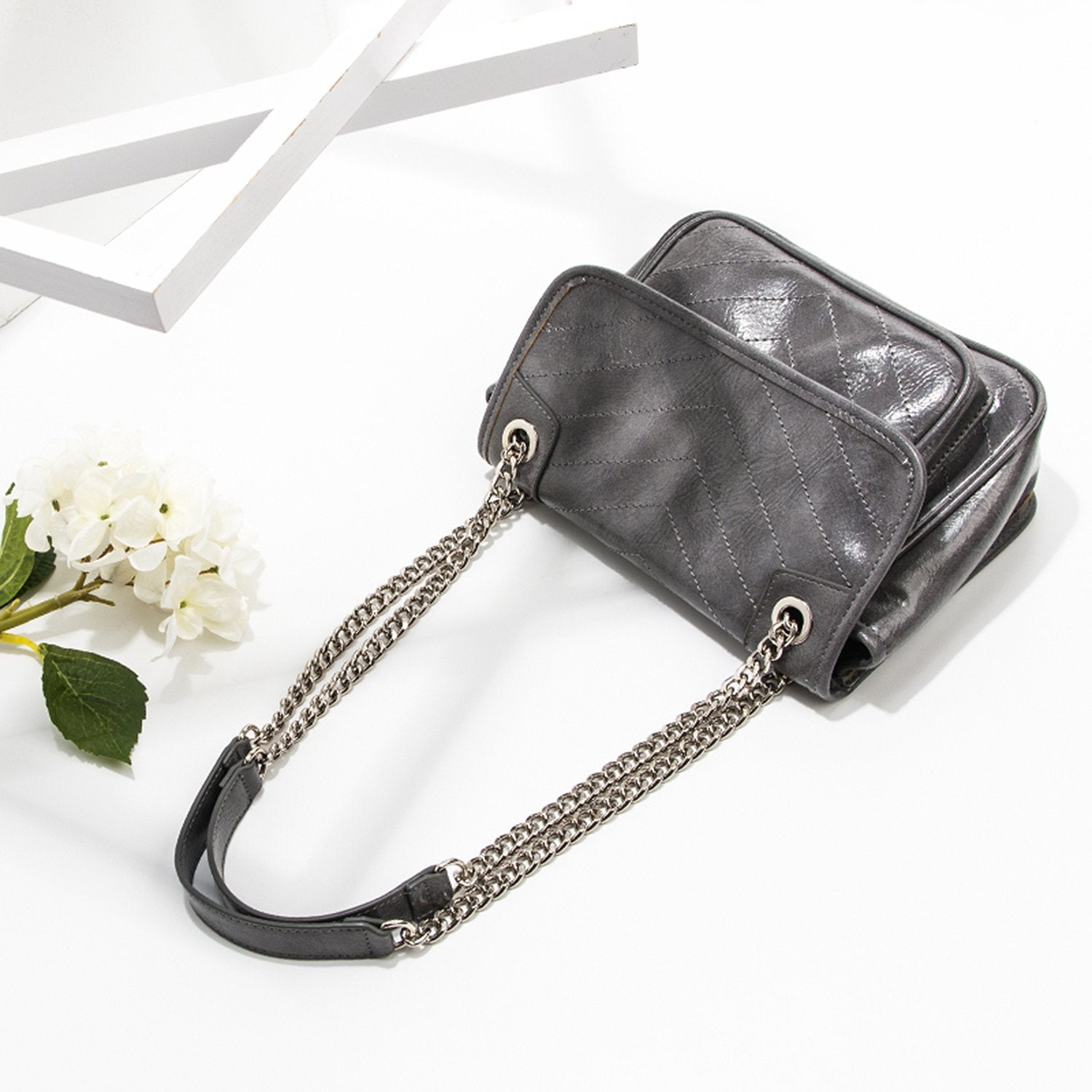 Big Size PU Simple Fashion Personality Handbag