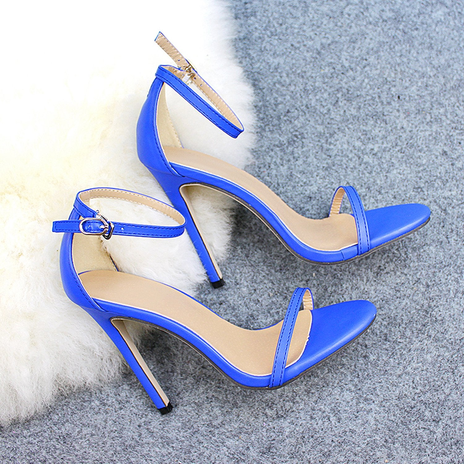 Peep toe Buckle Trap Stiletto High Heels Sandals