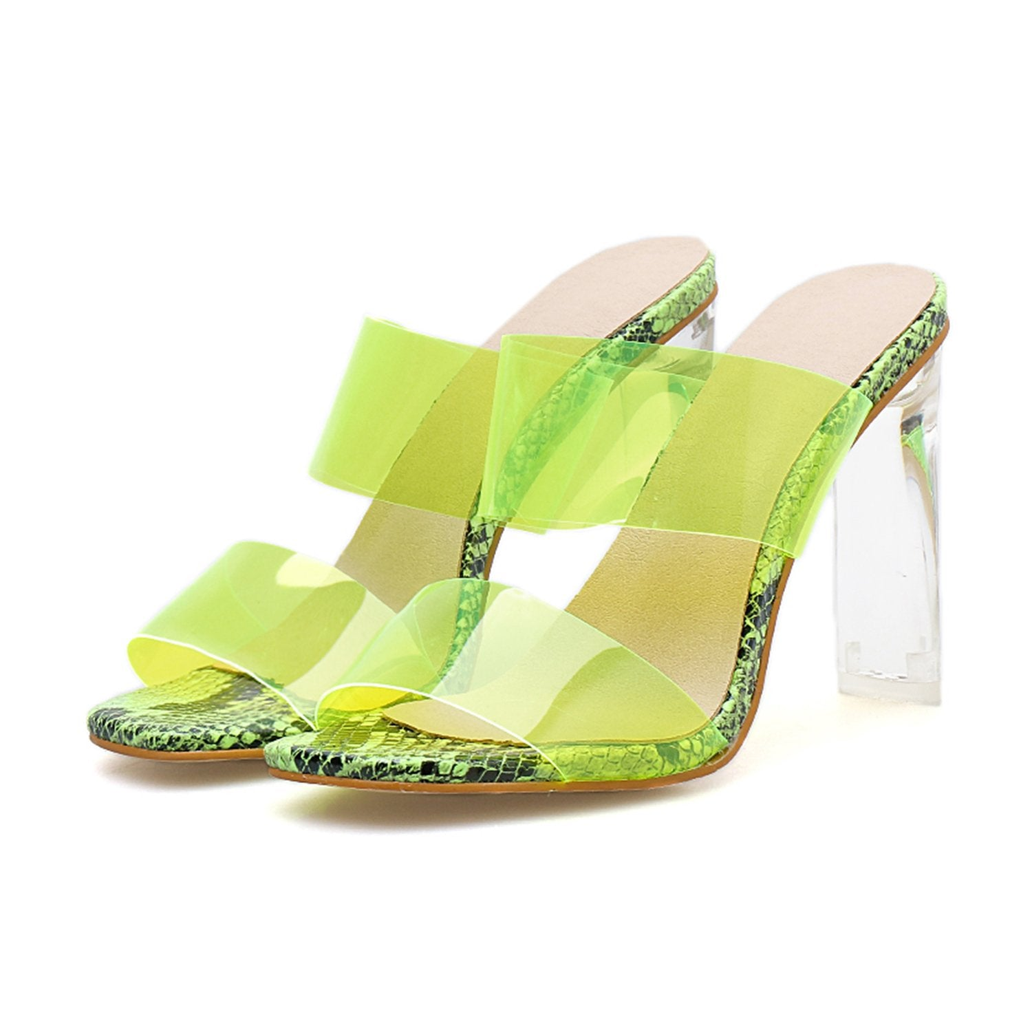 High Heel Sexy Transparent Sandals Slippers