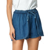 Denim Shorts With Elastic Waist