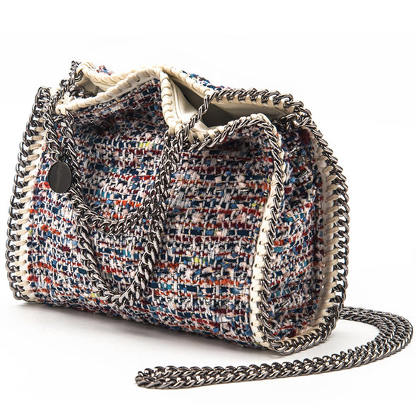 Fashion Grillwork Chain Square Handbags