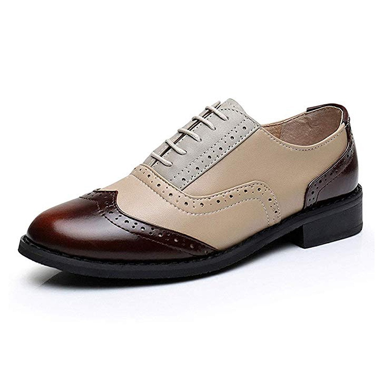Classical Leather Wing-up Brogues Flat Lace-up Oxford Shoes