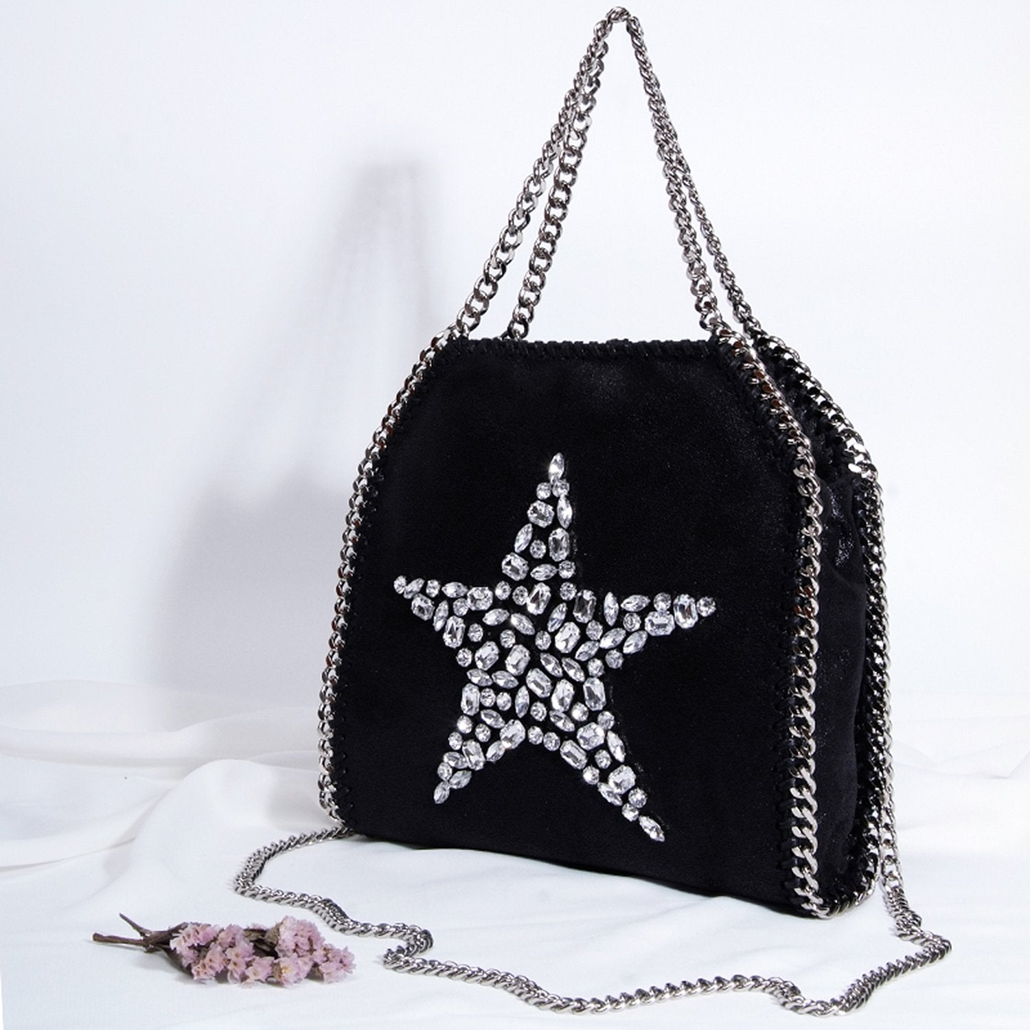 Fashion Diamond Star Rhinestone Chain Bag