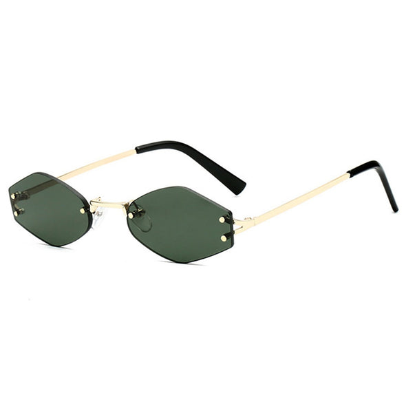 Thin Frame Hexagon Sunglasses
