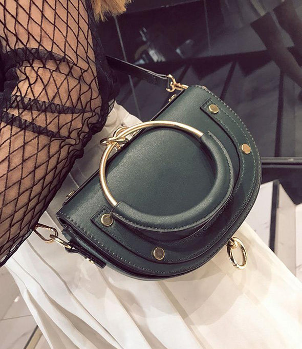 Saddle Ring Handbag Shoulder Bag