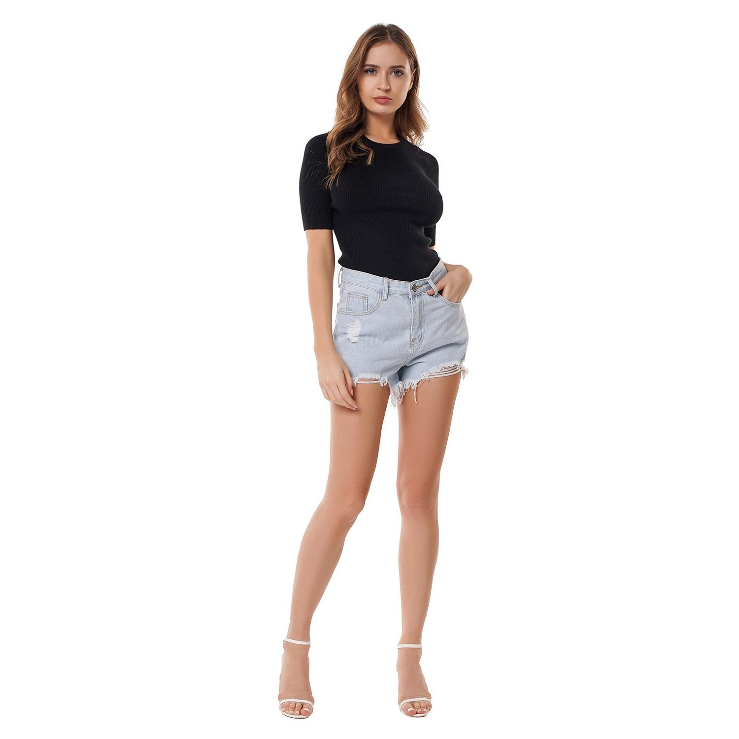 Loose Plus Size Denim Shorts