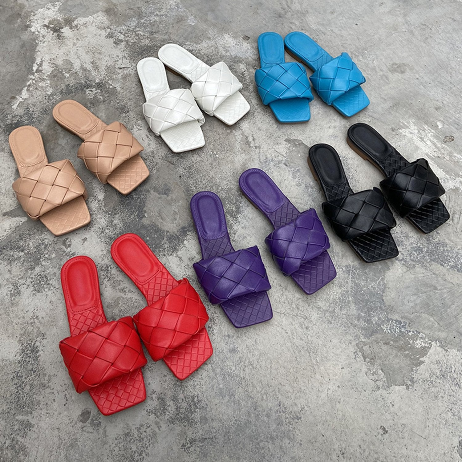 Fashion Woven Slippers Sandals