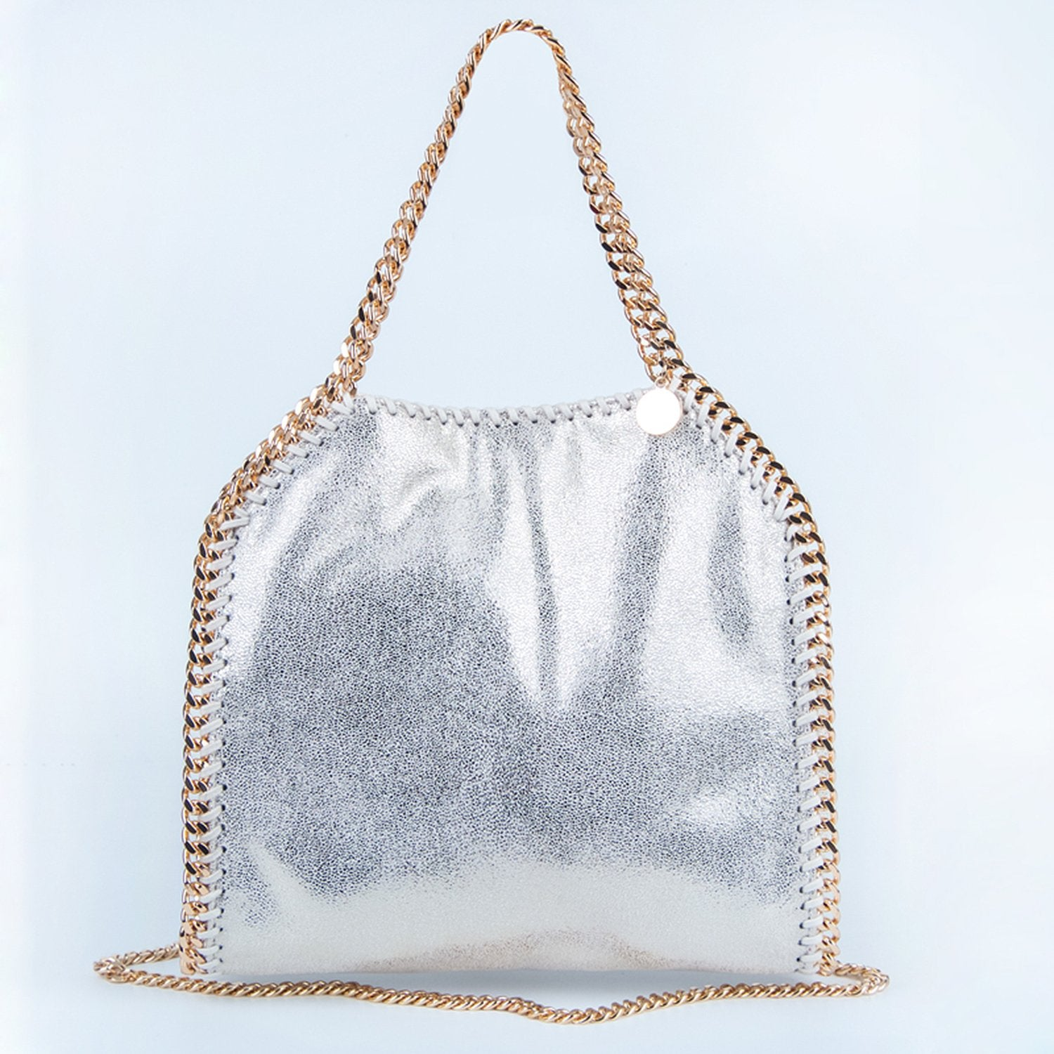 Single Shoulder Glitter Chain Bucket Bag