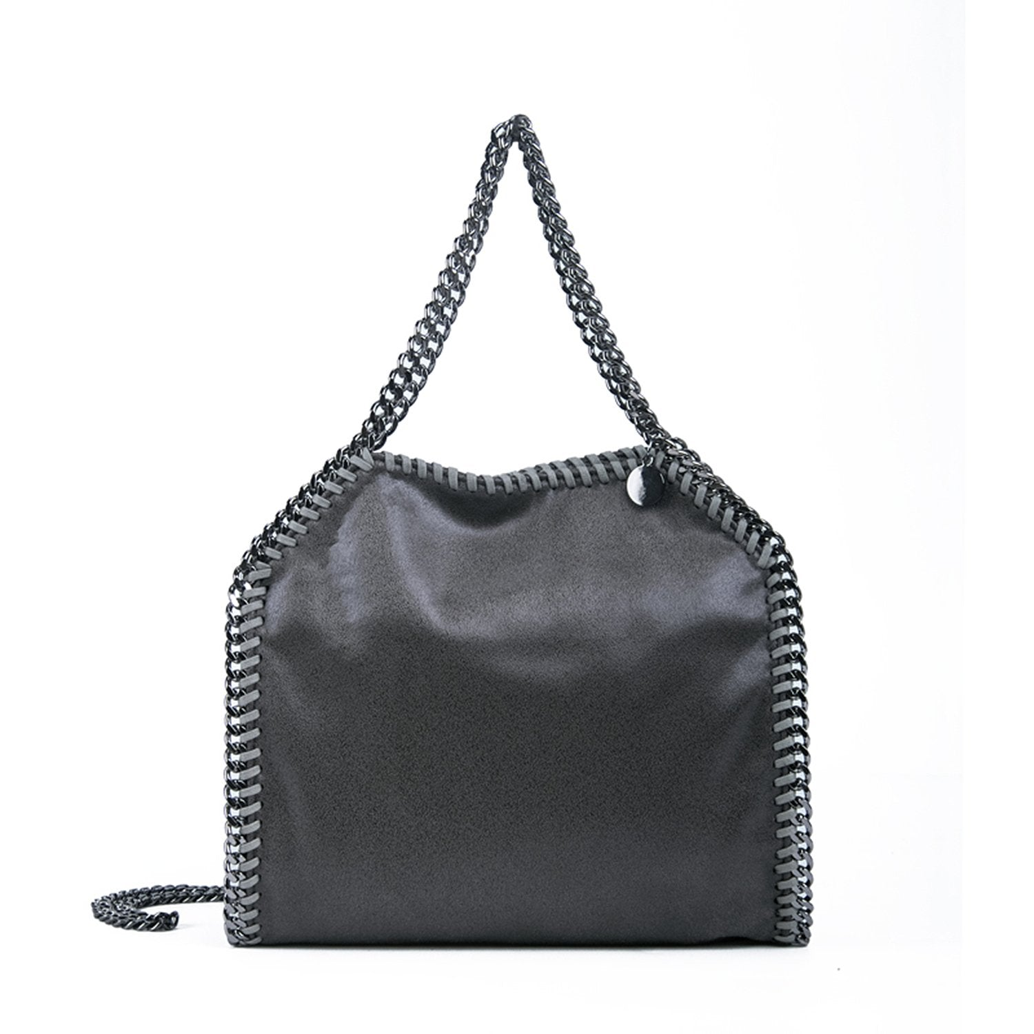 Gray Series Single Shoulder Chain Bucket Bag