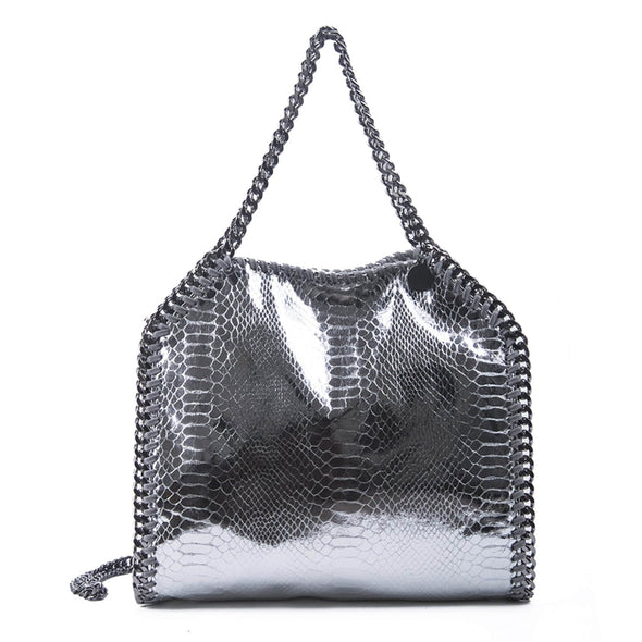 Single Shoulder Snake Chain Bucket Bag