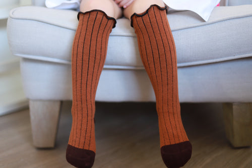 Chocolate brown knee high socks