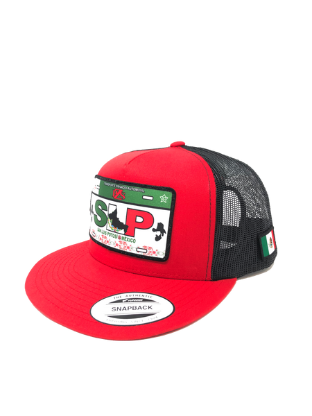 ''San luis Potosi'' Nueva version RED/ BLACK (SNAPBACK HATS)