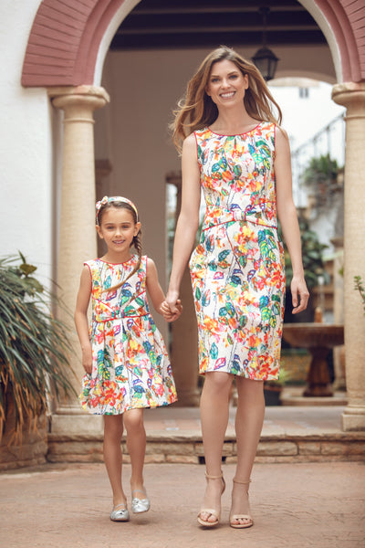 Flower Matching Dress Set
