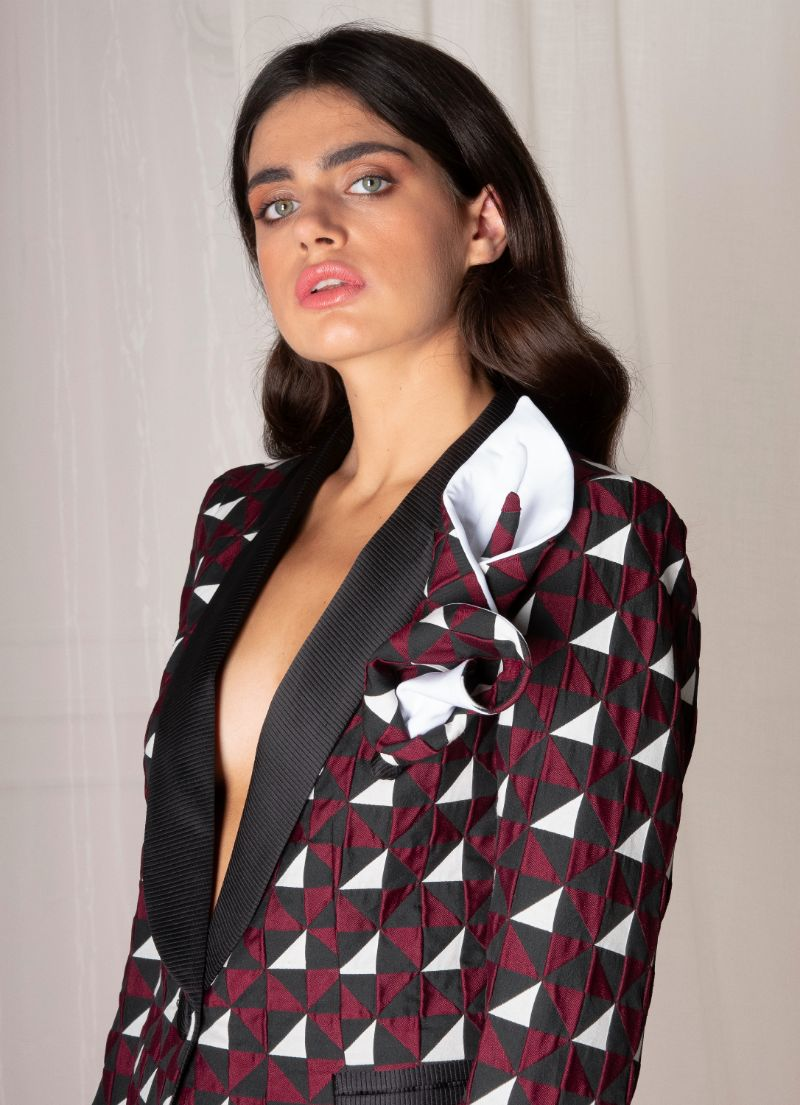 Geometric Woman Blazer