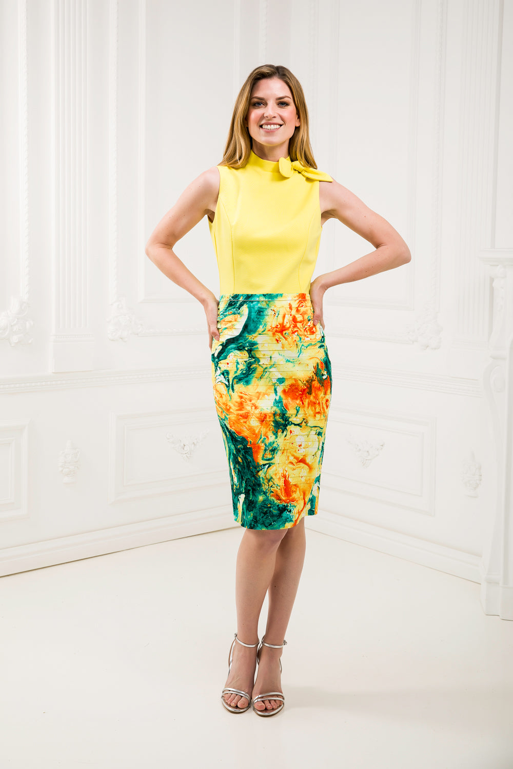 Yellow Pencil Dress