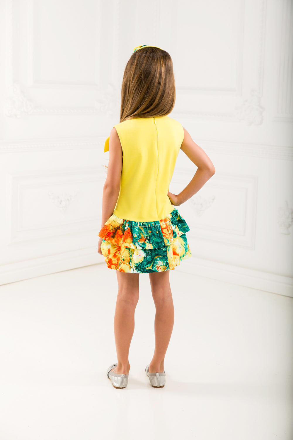 Yellow Matching Dress Set