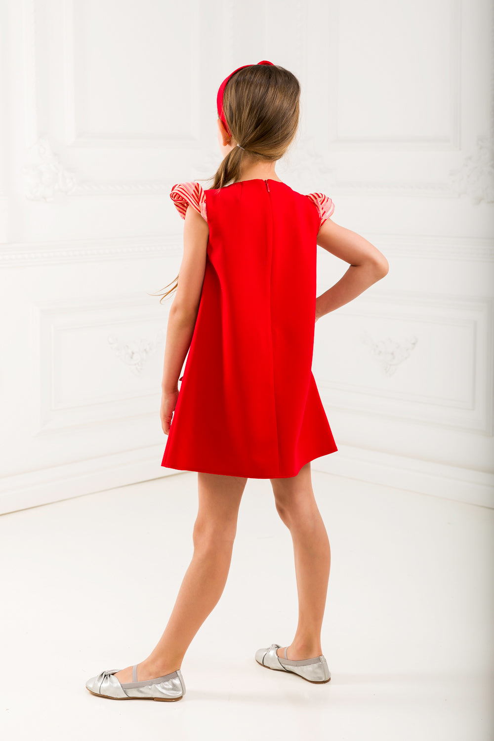 Red Pleat Dress Set