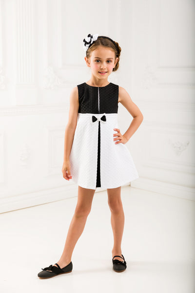 Black and White Girl Dress