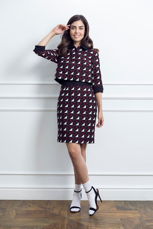 Geometric Print Woman Dress