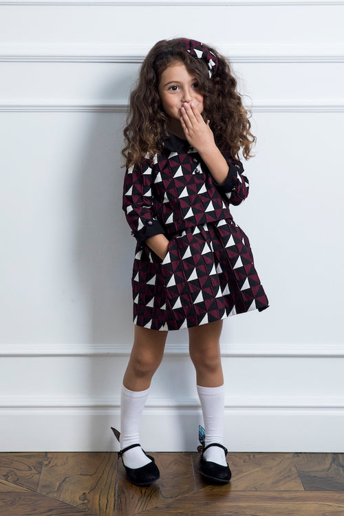 Geometric Print Girl Dress