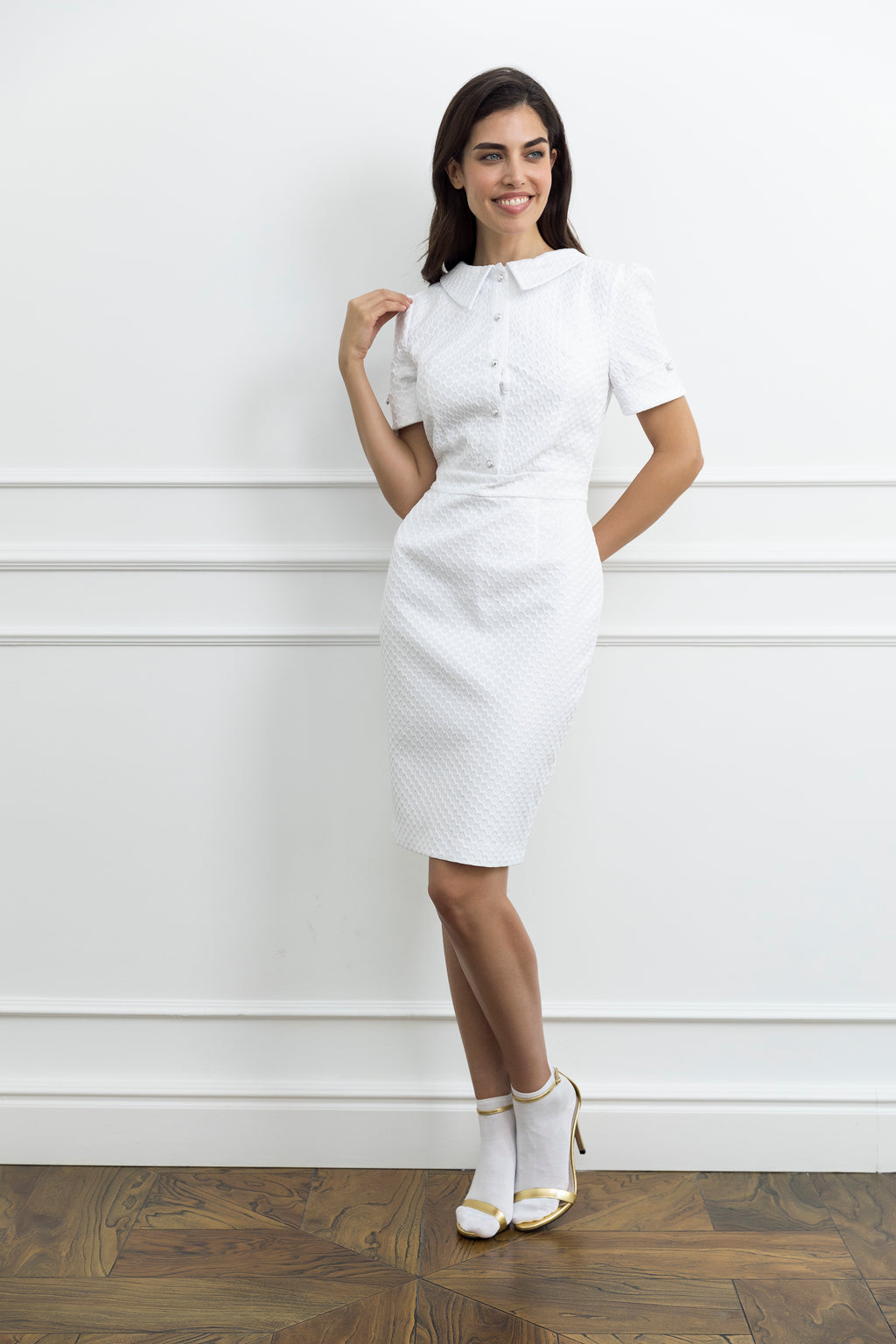 White Woman Dress